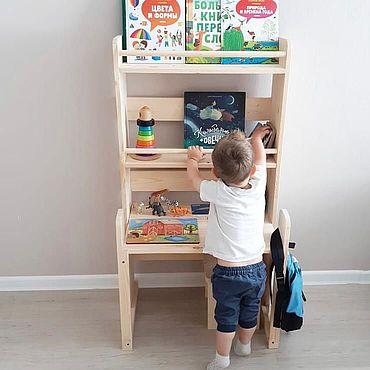 Для дома и интерьера ручной работы. Ярмарка Мастеров - ручная работа Детский стеллаж-стол. Handmade.