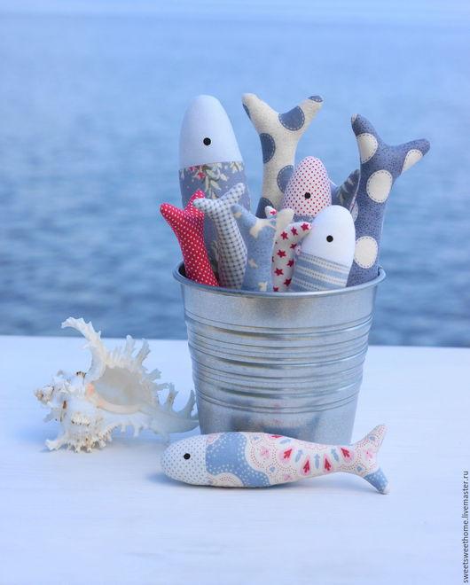 Игрушки животные, ручной работы. Ярмарка Мастеров - ручная работа. Купить Рыбки. Handmade. Голубой, рыбки, рыба, море