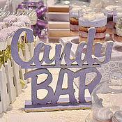 """Материалы для творчества ручной работы. Ярмарка Мастеров - ручная работа Слова на подставке """"Candy BAR"""". Handmade."""