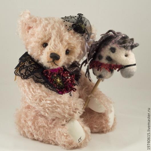 Мишки Тедди ручной работы. Ярмарка Мастеров - ручная работа. Купить Мишка с лошадкой. Маргагет.. Handmade. Мишка, тедди