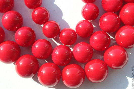 Для украшений ручной работы. Ярмарка Мастеров - ручная работа. Купить Майорка красная (3 размера). Handmade. Ярко-красный