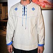 Русский стиль handmade. Livemaster - original item Men`s linen shirt Scandinavia. Handmade.