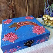 """Фен-шуй и эзотерика ручной работы. Ярмарка Мастеров - ручная работа Шкатулка для денег """"Рыбка"""". Handmade."""