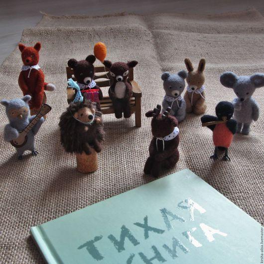 """Игрушки животные, ручной работы. Ярмарка Мастеров - ручная работа. Купить Коллекция войлочных игрушек. Персонажи """"Тихой книги"""". Handmade."""
