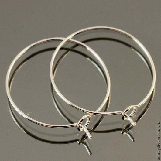 Швензы из проволоки с покрытием под серебро для сборки сережек без замка с петелькой для крепления подвески
