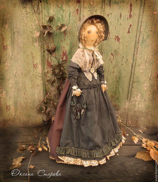Коллекционные куклы ручной работы. Ярмарка Мастеров - ручная работа. Купить Ключница (по мотивам). Handmade. Темно-серый