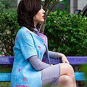 """Одежда ручной работы. Ярмарка Мастеров - ручная работа Летнее двухстороннее пальто """"Лагуна"""". Handmade."""