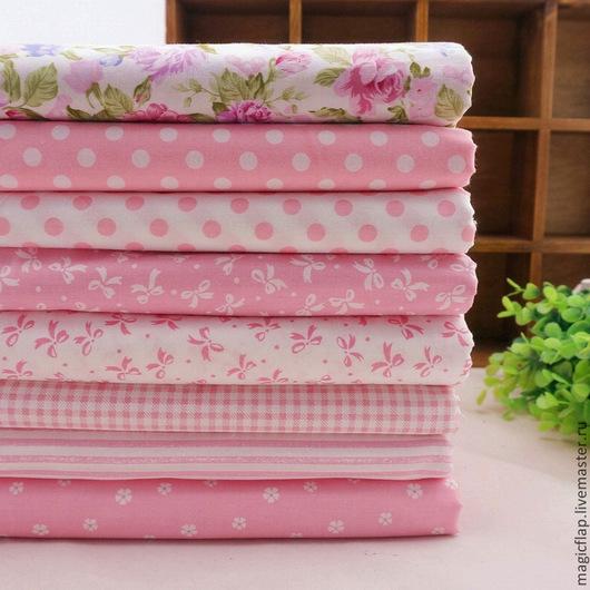 Шитье ручной работы. Ярмарка Мастеров - ручная работа. Купить Набор тканей Розовые мечты. 100%хлопок для пэчворка, текстиля, детской. Handmade.