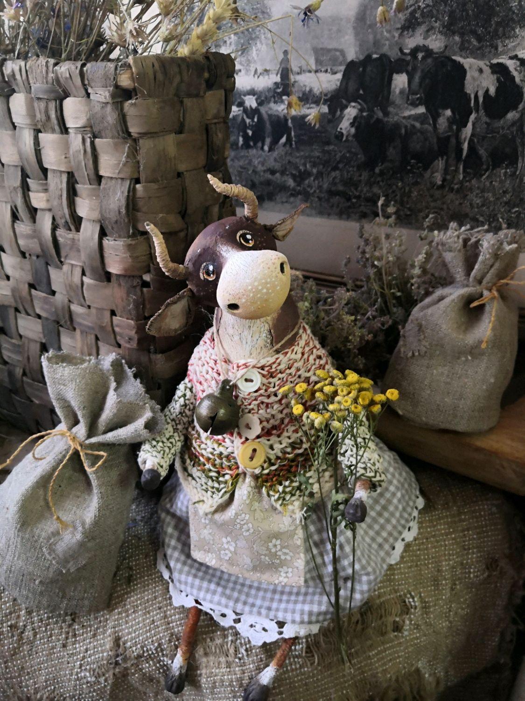 Коровушка Дуняша, Интерьерная кукла, Кинешма,  Фото №1
