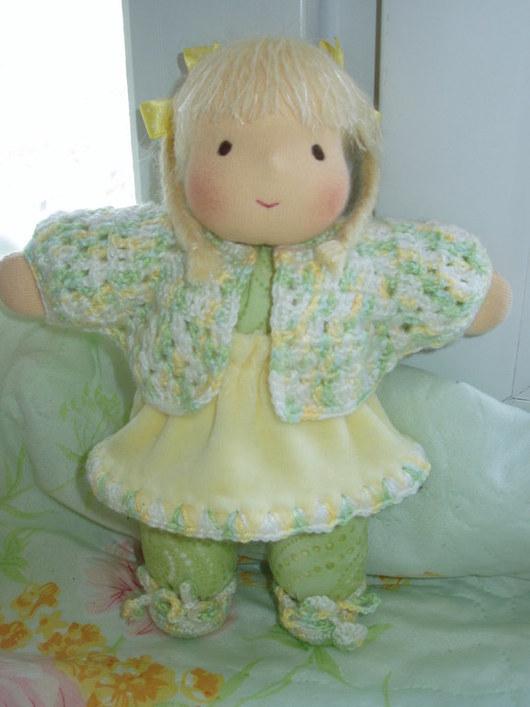 Вальдорфская игрушка ручной работы. Ярмарка Мастеров - ручная работа. Купить Вальдорфская кукла, 24 см.. Handmade. Лимонный, для девушки