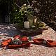 Текстиль, ковры ручной работы. Ярмарка Мастеров - ручная работа. Купить Летний вечер. Handmade. Рыжий, бежевый, сервировка
