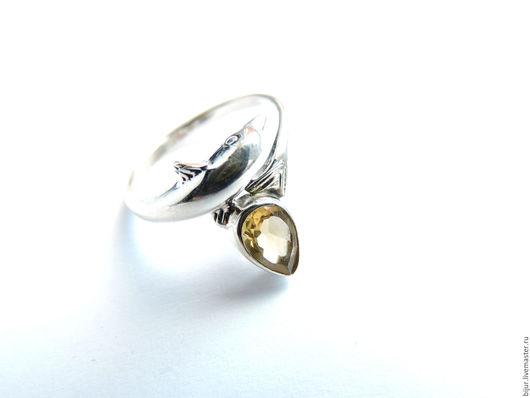 Кольца ручной работы. Ярмарка Мастеров - ручная работа. Купить Серебряное Кольцо с цитрином. Handmade. Украшение с камнями, украшения, разноцветный