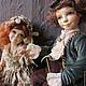 Коллекционные куклы ручной работы. Заказать Марианна и Филипп. Елена Орлова. Ярмарка Мастеров. Кукла, интерьерное украшение, состаренный стиль