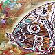 """Картины цветов ручной работы. Ярмарка Мастеров - ручная работа. Купить Бабочка цвета махагон-серия """"Драгоценные бабочки"""". Handmade."""