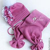 Работы для детей, ручной работы. Ярмарка Мастеров - ручная работа Комплект для девочки (шапка и шарф). Handmade.