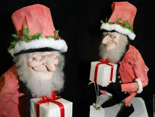 Сказочные персонажи ручной работы. Ярмарка Мастеров - ручная работа. Купить Добрый Санта. Handmade. Разноцветный, рождественское украшение, сюрприз