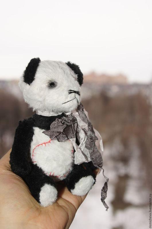 Мишки Тедди ручной работы. Ярмарка Мастеров - ручная работа. Купить Панда. Handmade. Теддик, подарок, опилки