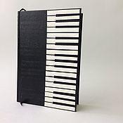 Канцелярские товары handmade. Livemaster - original item Personalized piano journal, piano keyboard journal, music notebook, pi. Handmade.