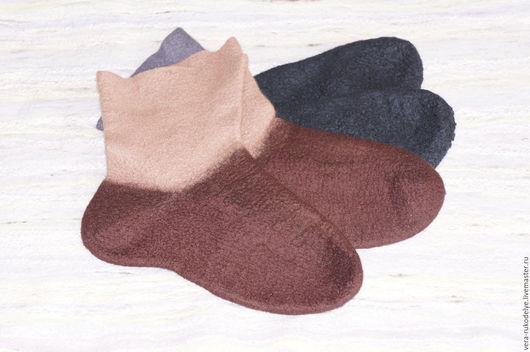 Носки, Чулки ручной работы. Ярмарка Мастеров - ручная работа. Купить Носки валяные мужские. Handmade. Комбинированный, войлочные носки