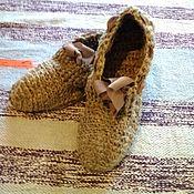 Тапочки ручной работы. Ярмарка Мастеров - ручная работа Тапочки из крапивного волокна. Handmade.