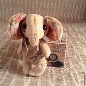 Куклы и игрушки ручной работы. Ярмарка Мастеров - ручная работа Слоник Тедди в жилетке. Handmade.