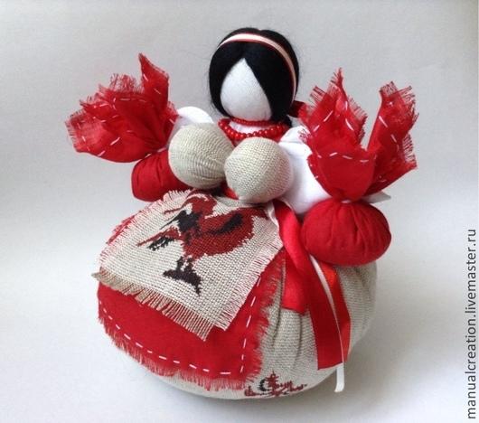 """Народные куклы ручной работы. Ярмарка Мастеров - ручная работа. Купить Травница """"Скарлет"""". Handmade. Травница, скарлет, бязь, синтепух"""