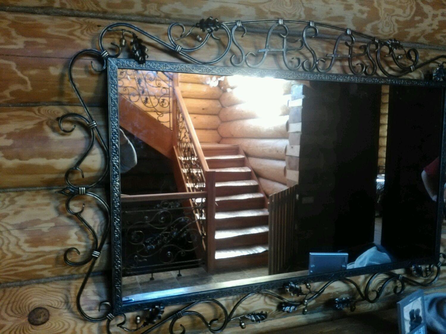 зеркало в кованой раме фото