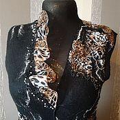 """Одежда ручной работы. Ярмарка Мастеров - ручная работа Жилет """"Гепардовые тропы"""". Handmade."""