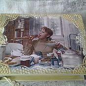 """Для дома и интерьера ручной работы. Ярмарка Мастеров - ручная работа Чайная шкатулка  """"Тося"""". Handmade."""