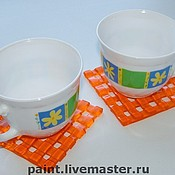 Для дома и интерьера handmade. Livemaster - original item Glass coasters under cups