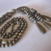 Украшения handmade. Livemaster - original item Beads long pendant Wood Ash. Handmade.