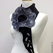 Аксессуары ручной работы. Ярмарка Мастеров - ручная работа шарф-цветок GREY. Handmade.