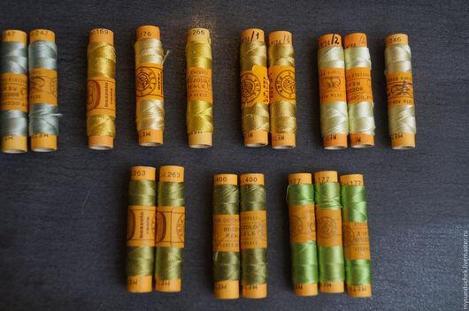 Вышивка ручной работы. Ярмарка Мастеров - ручная работа. Купить Нитки шелковые для вышивки (Италия). Handmade. Комбинированный, шелковые нитки