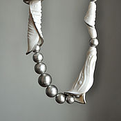 Украшения handmade. Livemaster - original item Necklace, biscuit, Japanese pearls.. Handmade.