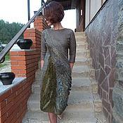 """Одежда ручной работы. Ярмарка Мастеров - ручная работа Валяное платье """"Тайны мшистого леса"""". Handmade."""