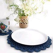 Салфетки ручной работы. Ярмарка Мастеров - ручная работа Набор из 4 сервировочных салфеток из джута, подставки под тарелки. Handmade.