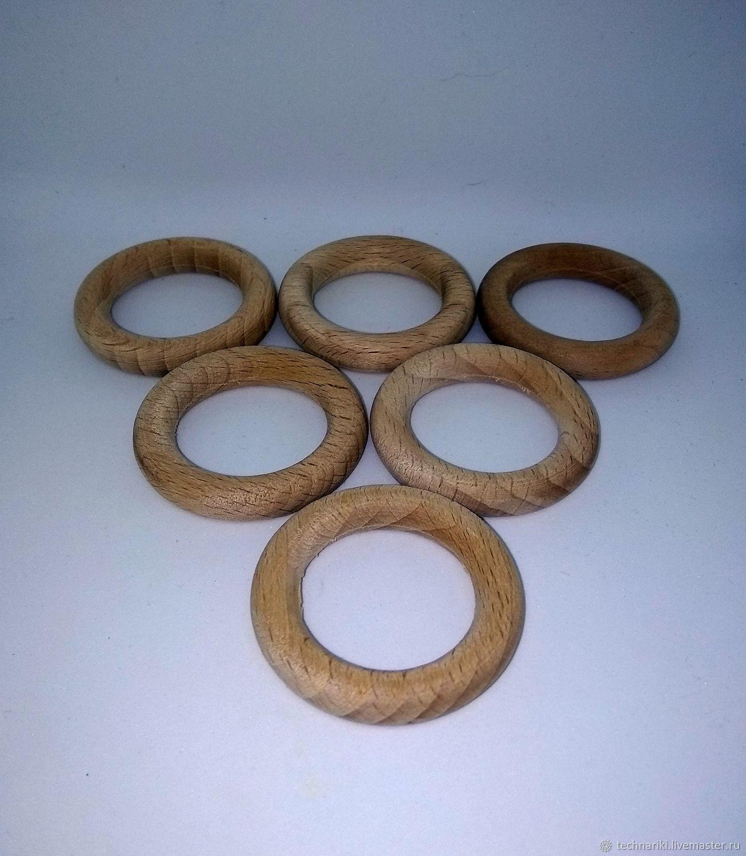 Деревянное кольцо колечко бук, Материалы для кукол и игрушек, Москва,  Фото №1