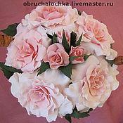 """Цветы и флористика ручной работы. Ярмарка Мастеров - ручная работа """"Зефирные розы""""- Интерьерная композиция. Handmade."""