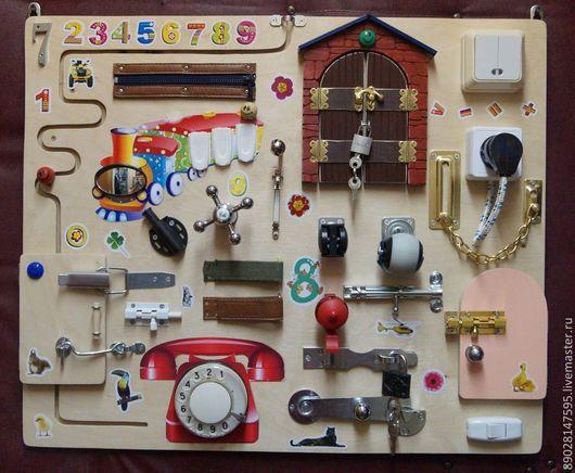 Развивающие игрушки ручной работы. Ярмарка Мастеров - ручная работа. Купить РАЗВИВАЮЩАЯ ДОСКА. Handmade. Развивающая игрушка, развивающие игры