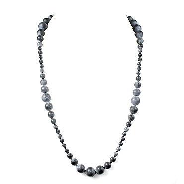 Decorations handmade. Livemaster - original item Necklace / beads made of natural shungite stone. Handmade.
