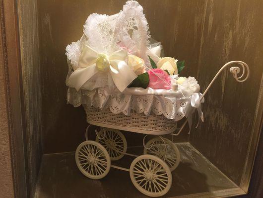 Подарки для новорожденных, ручной работы. Ярмарка Мастеров - ручная работа. Купить Коляска подарок. Handmade. Коляска, подарок, на выписку девочке