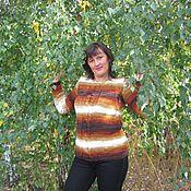 Одежда ручной работы. Ярмарка Мастеров - ручная работа свитер Осенний каппучино. Handmade.