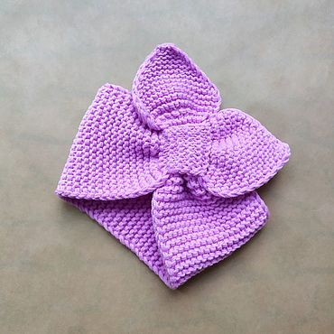 Clothing handmade. Livemaster - original item Knitted bandage straw (lilac). Handmade.