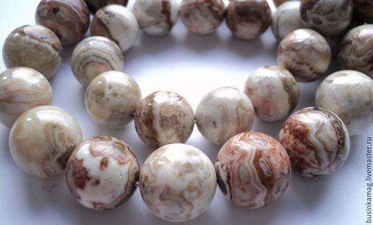Для украшений ручной работы. Ярмарка Мастеров - ручная работа. Купить Яшма гладкие бусины шар, 12мм 14мм. Handmade.