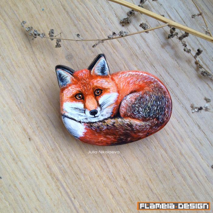 Лисичка брошь из полимерной глины