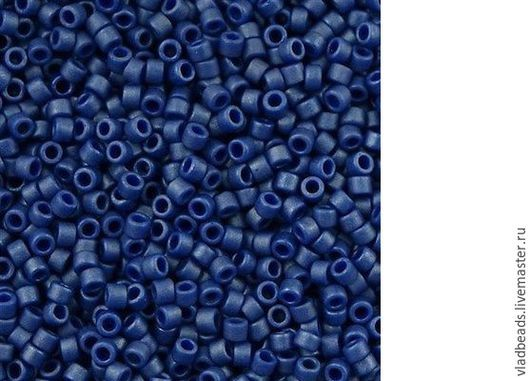 Для украшений ручной работы. Ярмарка Мастеров - ручная работа. Купить Бисер delica 377 Metallic Matte Royal Blue. Handmade.