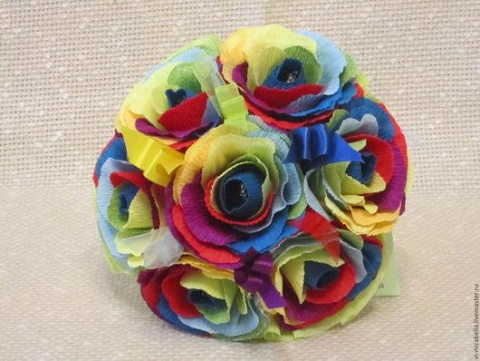 Букеты ручной работы. Ярмарка Мастеров - ручная работа. Купить Радужные розы. Букет из конфет. Handmade. Комбинированный, букет из конфет