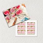 """Цветы и флористика ручной работы. Ярмарка Мастеров - ручная работа Коробка конфет """"Любимой маме""""  подарок маме шокобокс. Handmade."""