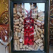 Копилки ручной работы. Ярмарка Мастеров - ручная работа Копилка RED для винных пробок и пробок от шампанского. Handmade.