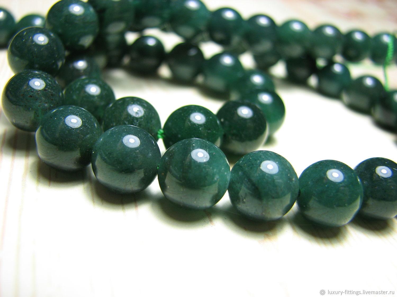 Aventurine green 8 mm, Beads1, Moscow,  Фото №1
